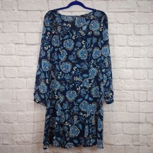 NWT The Limited Navy Floral Print Dress Size 10